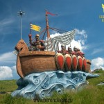 A ship of ancient warriors from fairy tales