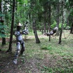 Sculptures of folk tales and children stories decorate the park