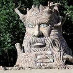 Huge head. Sculpture