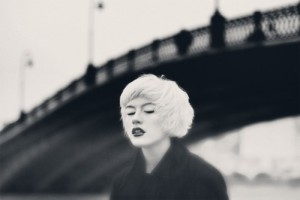 The bridge over a foggy gulf. Black and white female portraits by Moscow based photographer Nina Chu