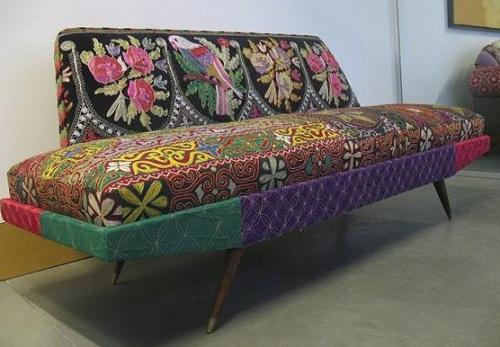 Piece of furniture decorated with Bokja design. Hoda Baroudi & Maria Hibri