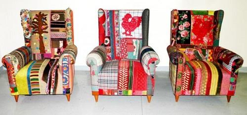 Three armchairs. Bokja design by talented Lebanese designers Hoda Baroudi & Maria Hibri