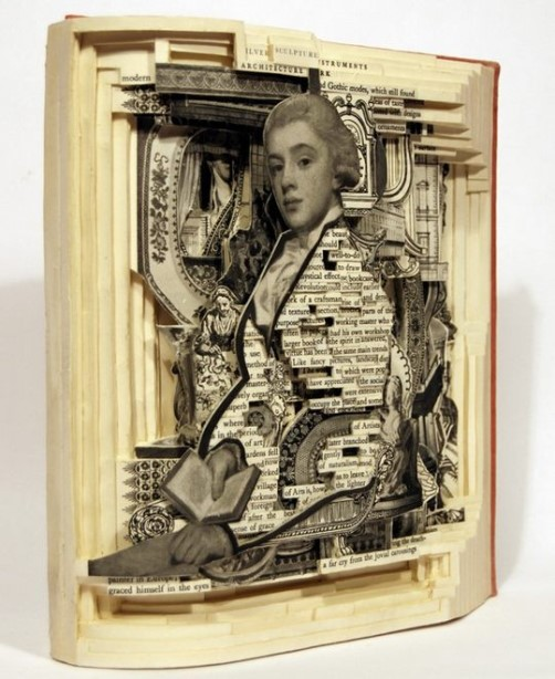 Conceptual sculptures from books by Brian Dettmer