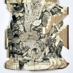 Sculptures from books by American artist Brian Dettmer