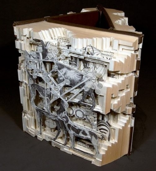 Thematical books and Conceptual sculptures by Brian Dettmer