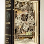 Today's world. Conceptual sculptures from books by American artist Brian Dettmer