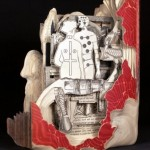 Anatomy Conceptual sculptures from books by American artist Brian Dettmer