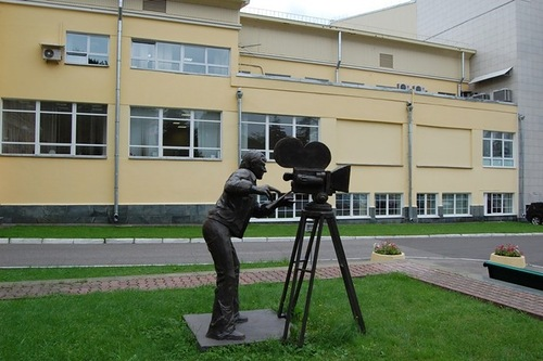 Cameraman monument in Moscow, Russia
