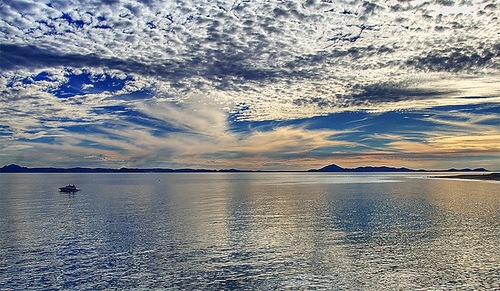 The water of the sea received by the clouds is always sweet. Chanakya