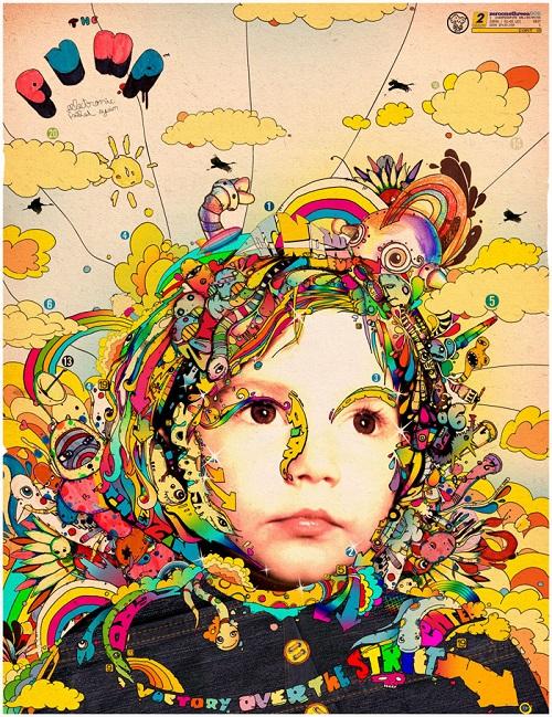 Colorful drawing by Romanian artist Matei Apostolescu (Beaucoupzero)