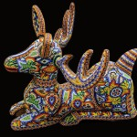 Deer. Huichol sculpture