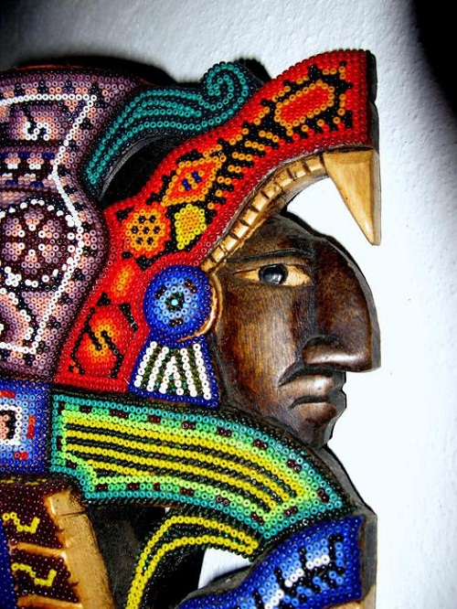 A detail of Indian bead sculpture