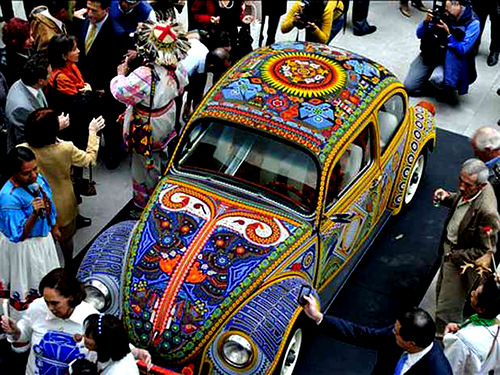 Wonderful car covered with bead