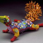 Squirrel bead sculpture