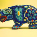 Bear bead sculpture