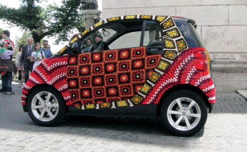 One-of-a-kind decorated car