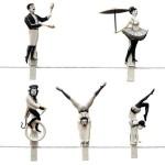 Creative circus clothespins Pegzini Family