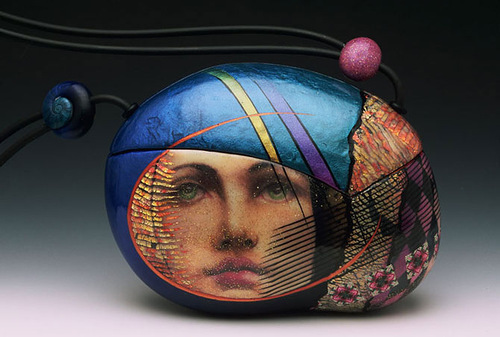 Unique Evening Bags by American clay artist Kathleen Dustin
