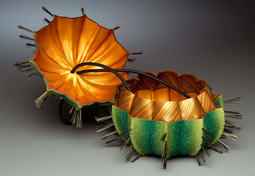 Exquisite Evening Bags by American clay artist Kathleen Dustin