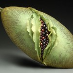 Surreal Evening Bags by American clay artist Kathleen Dustin