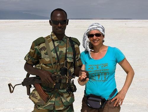 Military man and Russian photographer Viktoria Rogotneva