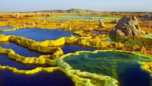 Unearthly landscape. Danakil Depression desert by Russian photographer Viktoria Rogotneva