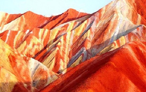 Danxia mountains in China