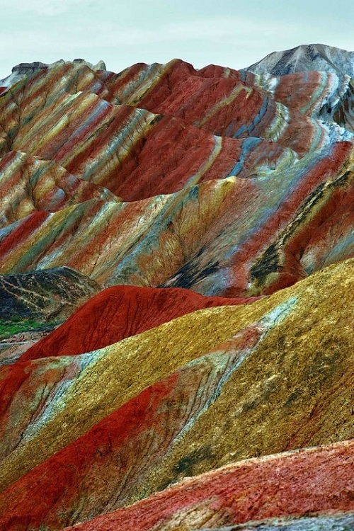 Spectacular cliffs of unusual rock formations, Danxia landforms