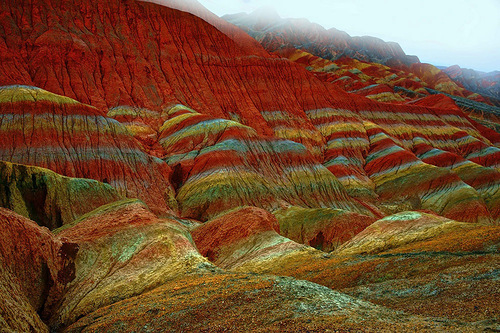 UNESCO World Heritage site, Danxia, fabulous mountains in China