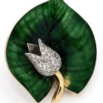 Diamond, enamel, platinum and yellow gold brooch BY BOUCHERON, CIRCA 1960