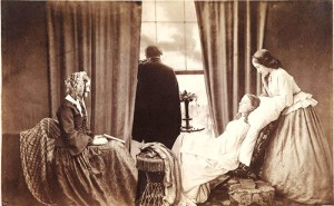 'Fading away by Henry Peach Robinson (English, 1830–1901)', 1858 albumen silver print from glass negatives, the royal photographic society at the national media museum