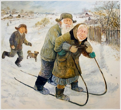 Painting by Leonid Baranov, Russian artist