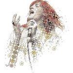 Florence Welch for Evening Standard magazine. Mosaic portrait of Florence & The machine leader Florence Welch for the Evening Standard Magazine. The article is about the people behind Florence's phenomenal artistic success