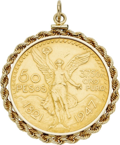Gold Coin, Gold Pendant