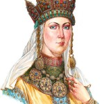 Grand Duchess in ceremonial dress, late XII – early XIII centuries. On materials of Old Ryazan treasures.