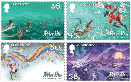 Stamps by British artist David Wyatt