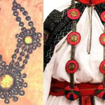 Gribatka – like Gaitan, only strips of beads or chains are divided with ornament