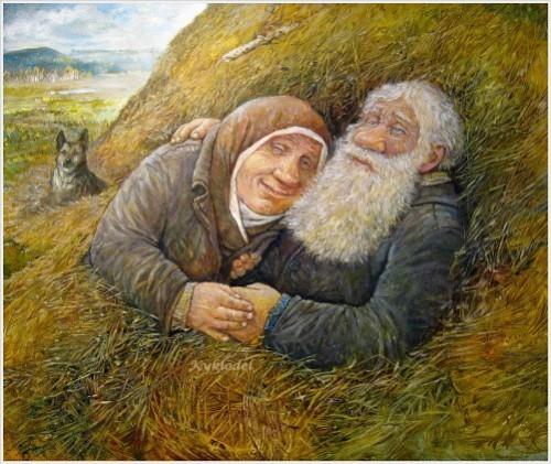 Happiness by artist Leonid Baranov, Russian artist
