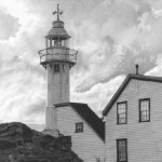 Local area depicted in pencil drawing by American self-taught artist Randy Hann