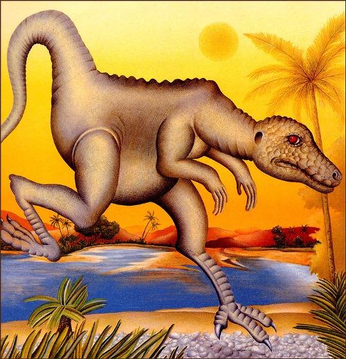 Prehistoric animal. Book Illustrations by Etienne Delessert