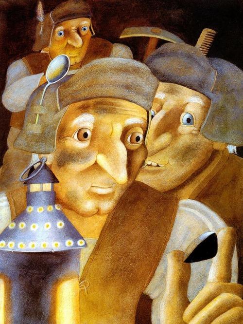 Craftsmen. Book Illustrations by Etienne Delessert
