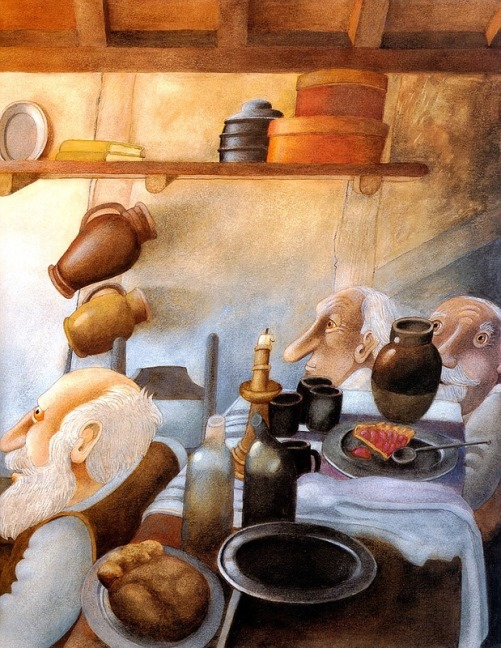 In the kitchen. Book Illustrations by Etienne Delessert