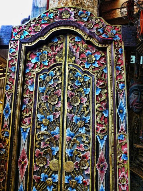 India, hand carved and painted doors