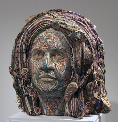 Anne. 2010. Recycled wood, pigmented grout