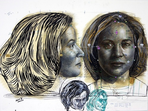 Sketches for future sculpture. Work by American artist Michael Ferris Jr