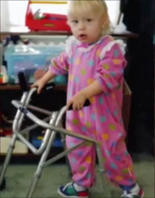 Jessica learning to walk