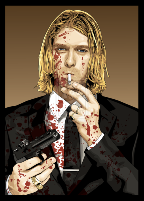 Kurt Cobain. Vector portrait by Indonesian artist Andias Rakhman