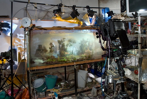 Landscapes created in studio by American artist Kim Keever