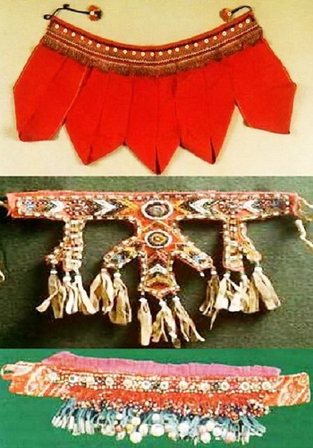 Lenka - richly embroidered fabric collar