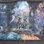 The greatest fantasy world by Tolkien – Lord of the rings. Lacquer paintings by Russian artist Sergey Knyazev